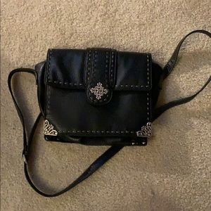 Black bag with silver accents